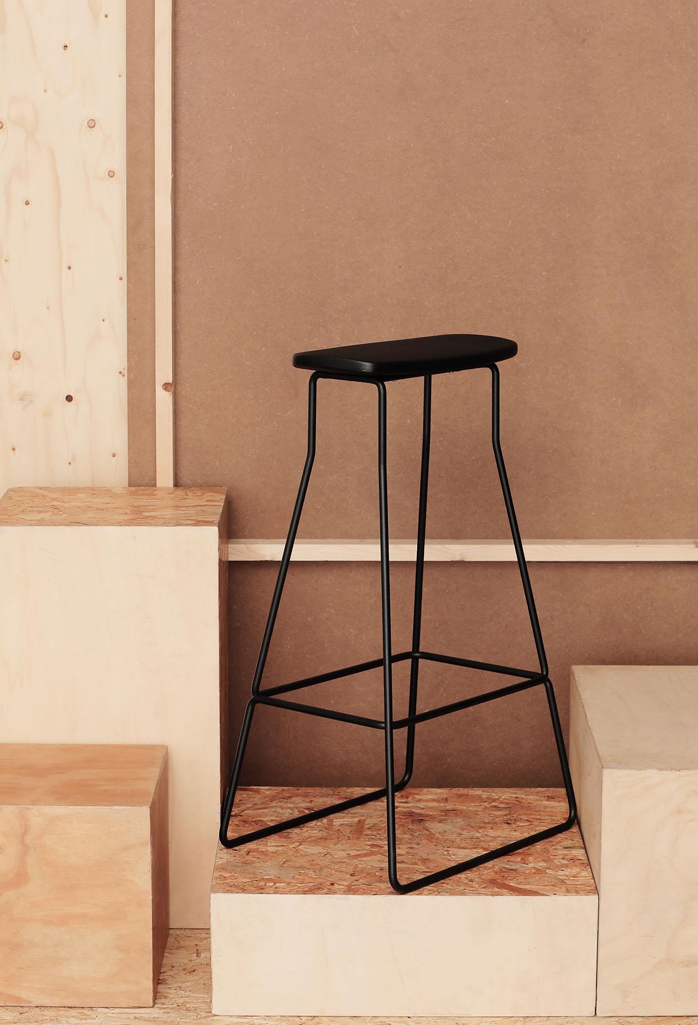 Awe Inspiring Black Leger Stool Iminimi Ncnpc Chair Design For Home Ncnpcorg